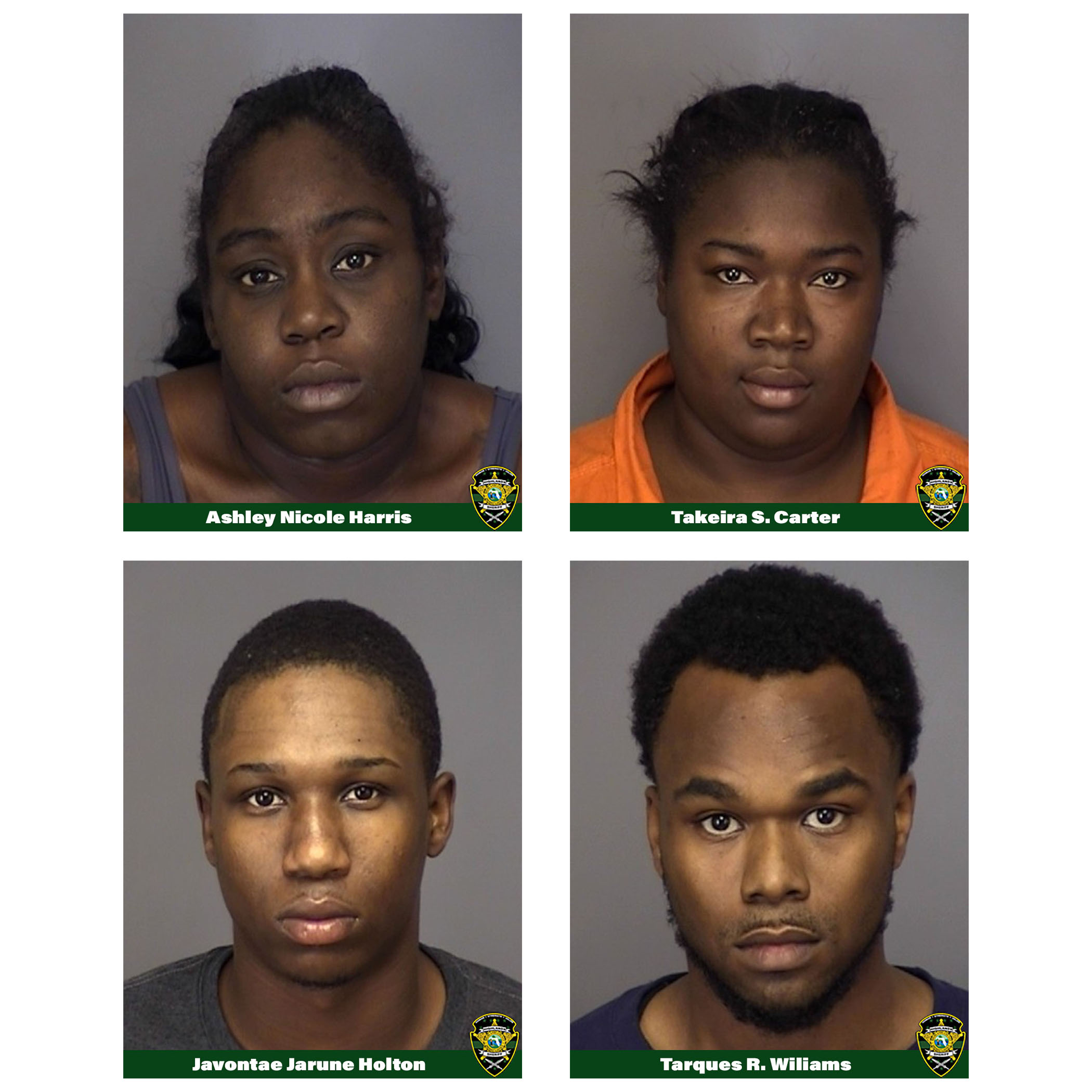 mugshots of the four suspects